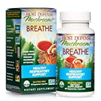 Host Defense, Breathe, 60 Capsules, Respiratory Support, Mushroom Supplement with...