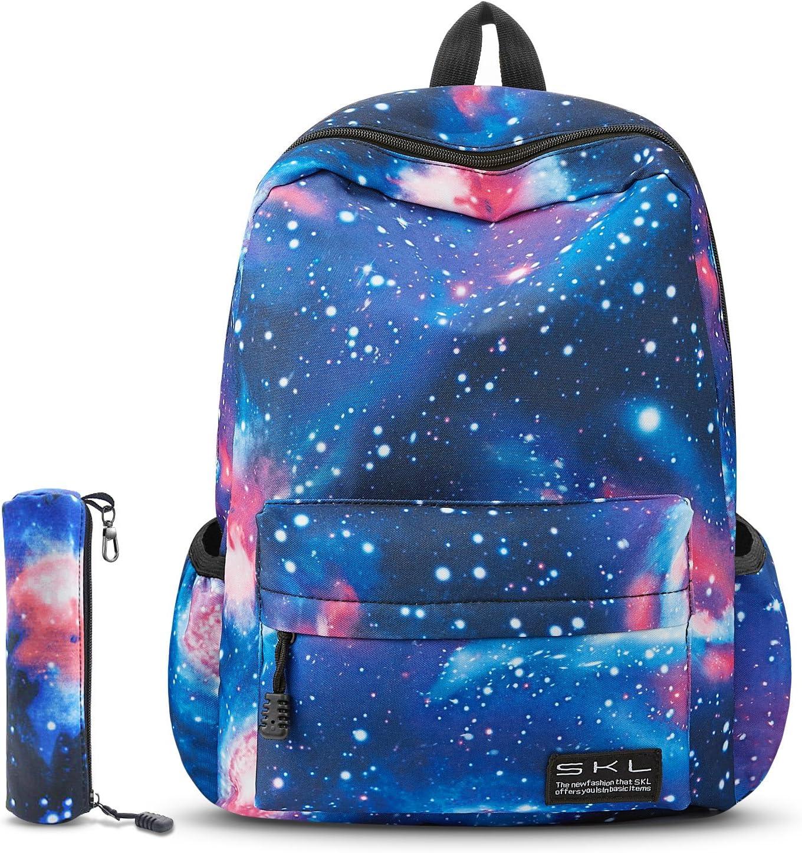 Boys Girls School Bag Backpack Galaxy Fancy Cool Kis Bags GLOW IN DARK BEST GIFT
