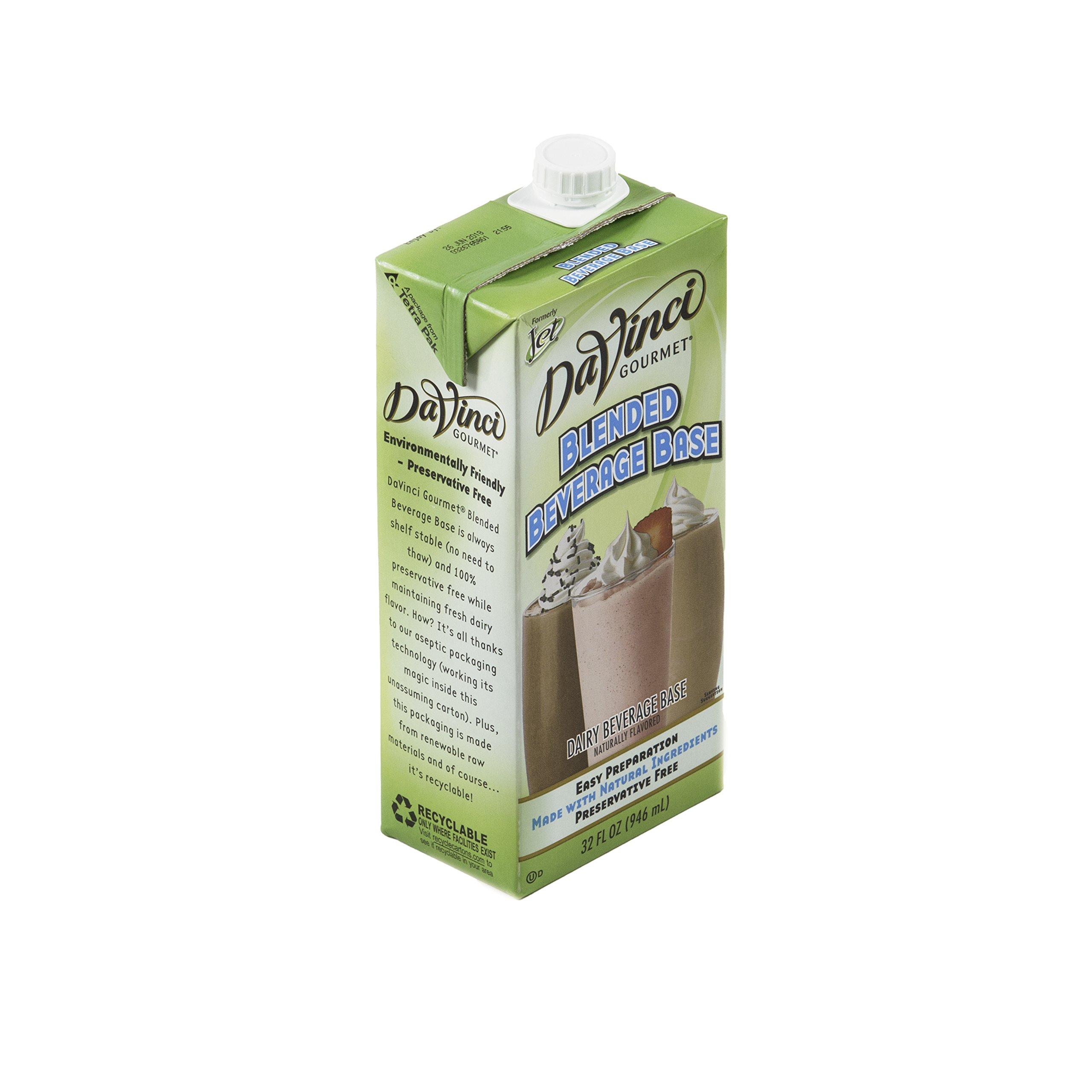 Davinci Gourmet Blended Beverage Base 32 oz, Pack of 12