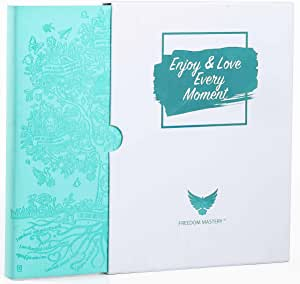 Deluxe Law of Attraction Life Planner - Success Planner to Increase Productivity & Happiness - Weekly Planner, Organizer & Gratitude Journal (Undated, Soft Turquoise) + Box + Bonus Planner Stickers