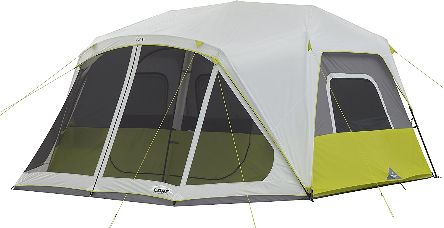 CORE 10 Person Instant Cabin Tent with Screen Room – 14.5 x 14