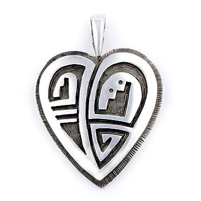Amazon 220 Retail Tag Heart Silver Authentic Handmade Hopi