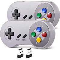 2.4 GHz Wireless USB SNES Controller for Super Classic Games, iNNEXT Retro USB PC Controller Compatible for Windows PC…