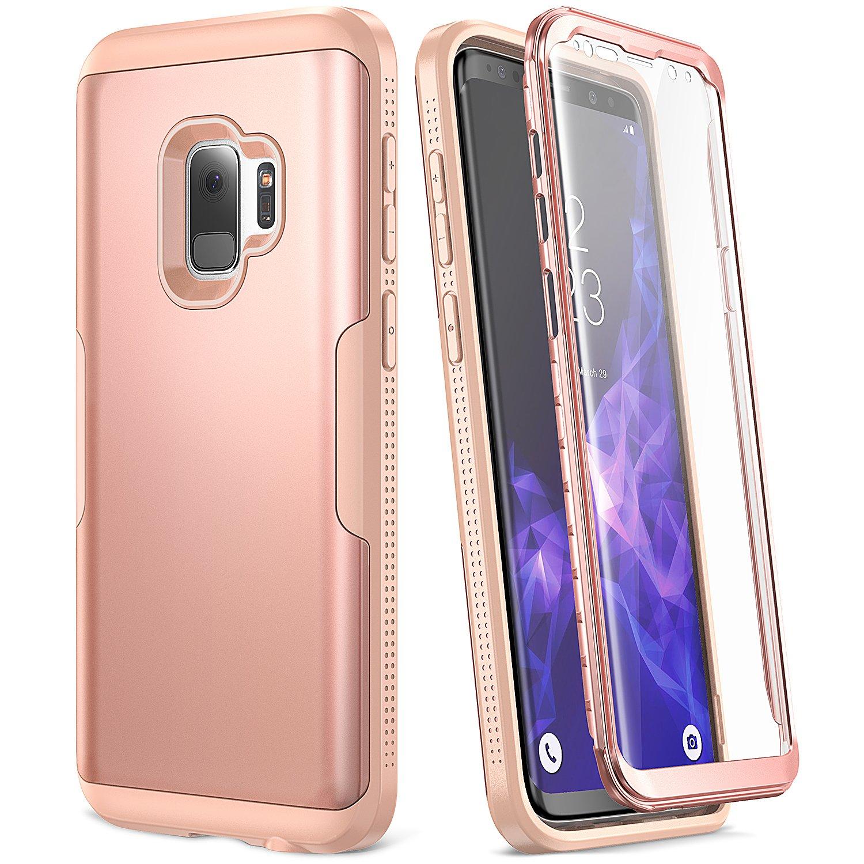 73849ec0d26e YOUMAKER ofrece un protector para Samsung Galaxy S9 de tres capas de 360°  hecho con una combinación de materiales de alta calidad para PC y TPU, ...