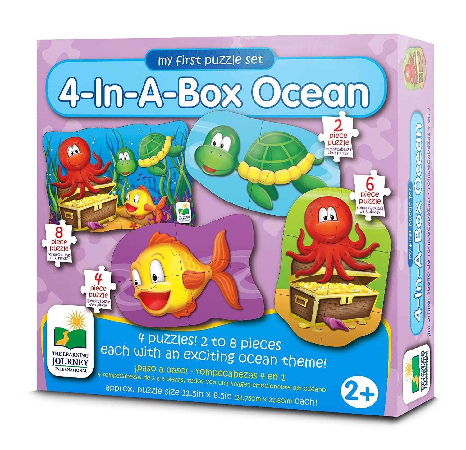 amazon com the learning journey my first puzzle sets 4 in a box