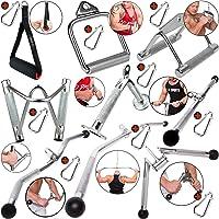 C.P. Sports eenhandgreep/parallelgreep/tricepsgreep/biceps-triceps-stang/lattrekstang/+ 1 karabijnhaak voor bodybuilding…