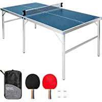 GoSports Mid-Size Table Tennis Game Set - Indoor/Outdoor Portable Table Tennis Game with Net, 2 Table Tennis Paddles and…