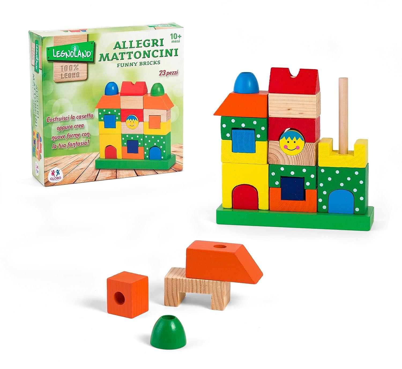 Globo Toys 36360Legnoland briques sympathique Petite maison Ensemble de construction Globo - 36360