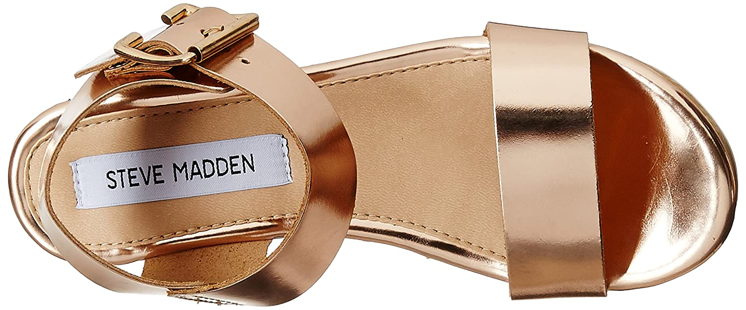 7412db8d79ab Steve Madden Women s Nylee Rose Gold Leather Fashion Sandals - 6 UK  Buy  Online at Low Prices in India - Amazon.in