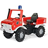 Rolly Toys - 03 663 9 - Véhicule À Pédales - Rollyfire Unimog - Fourgon Pompiers - Vitesses Et Frein