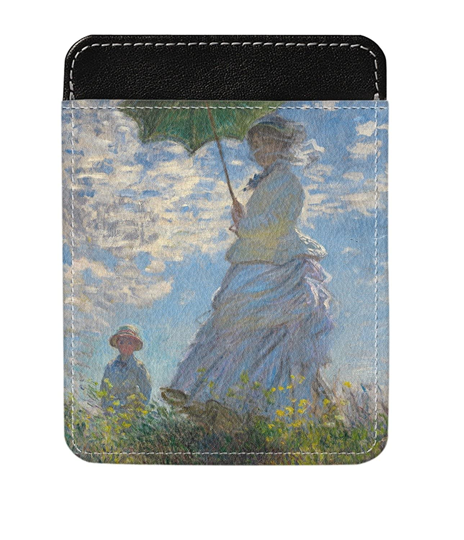 Promenade Woman by Claude Monet Genuine Leather Money Clip