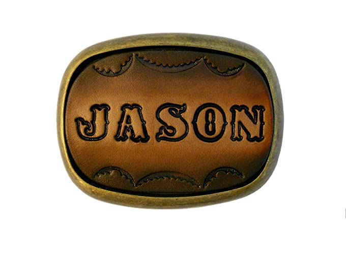 Amazon Custom Tooled Leather Belt Buckle Made To Order Names