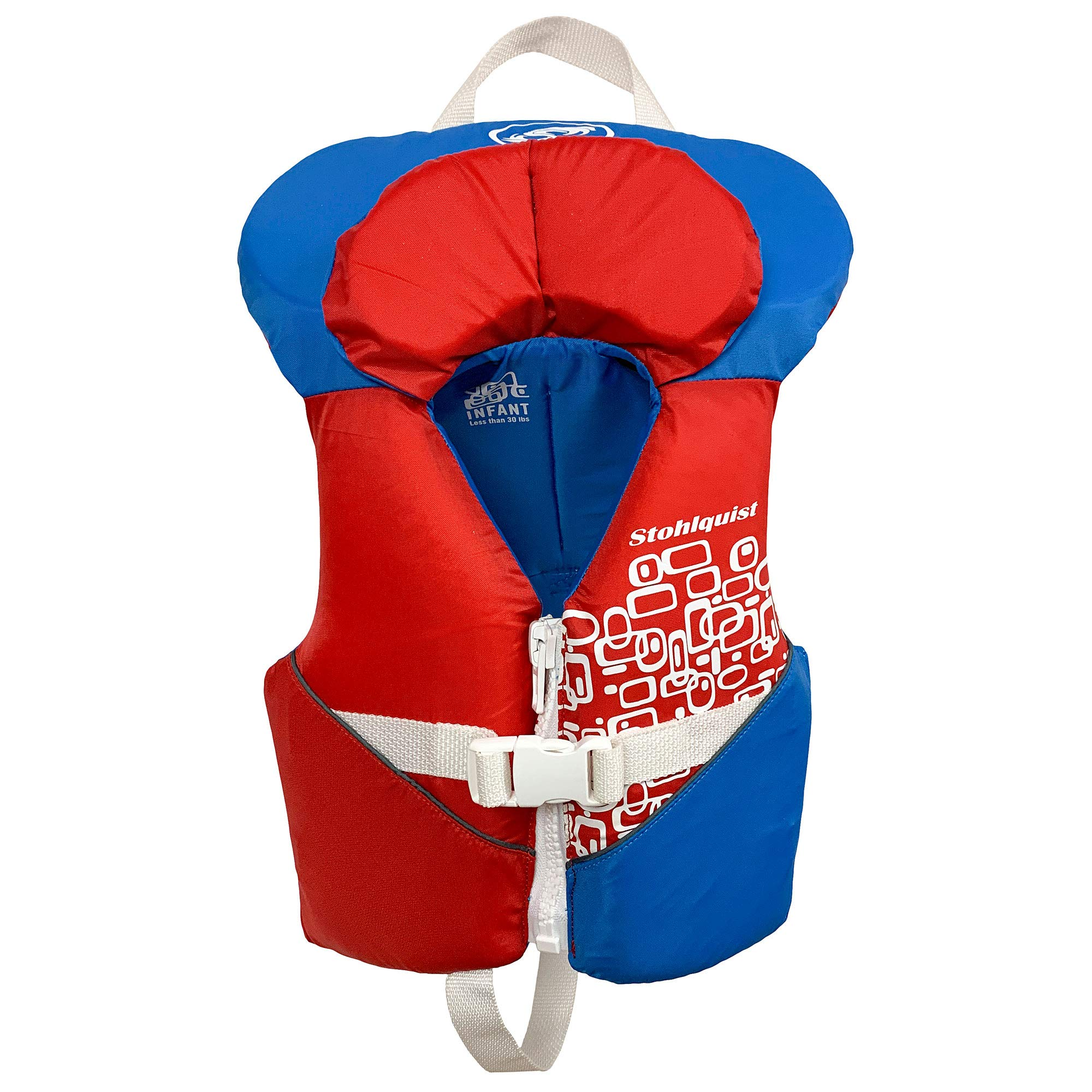Stohlquist Toddler Life Jacket Coast Guard Approved Life Vest for InfantsRed/White/Blue-Infant by Stohlquist Waterware