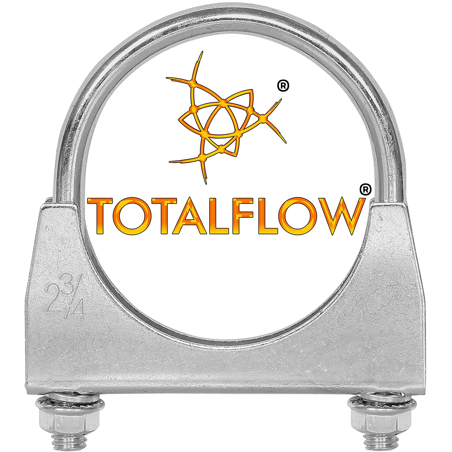 TOTALFLOW 2.75 TF-275SS 409 Stainless Steel Single Bolt AccuSeal Exhaust Muffler Clamp Band-2.75 Inch