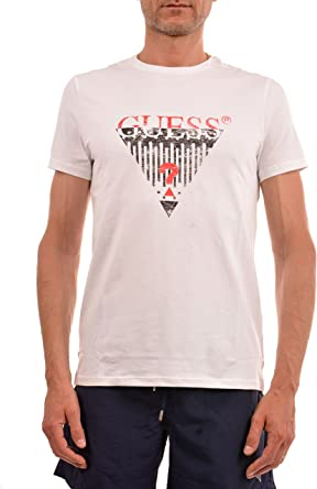 GUESS Camiseta Hombre Blanco U82I126404Z-A009