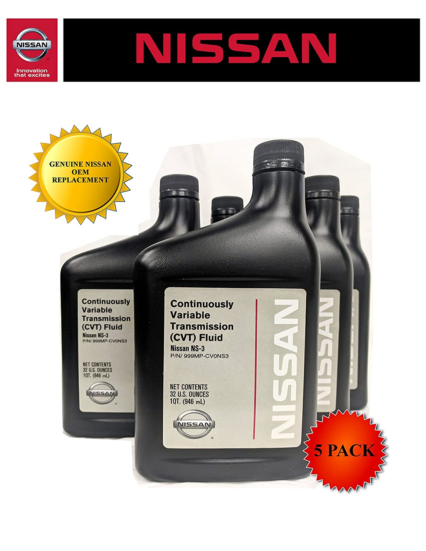 Genuine Nissan OEM CVT-3 Transmission Fluid 999MP-NS300P (5 Quarts)