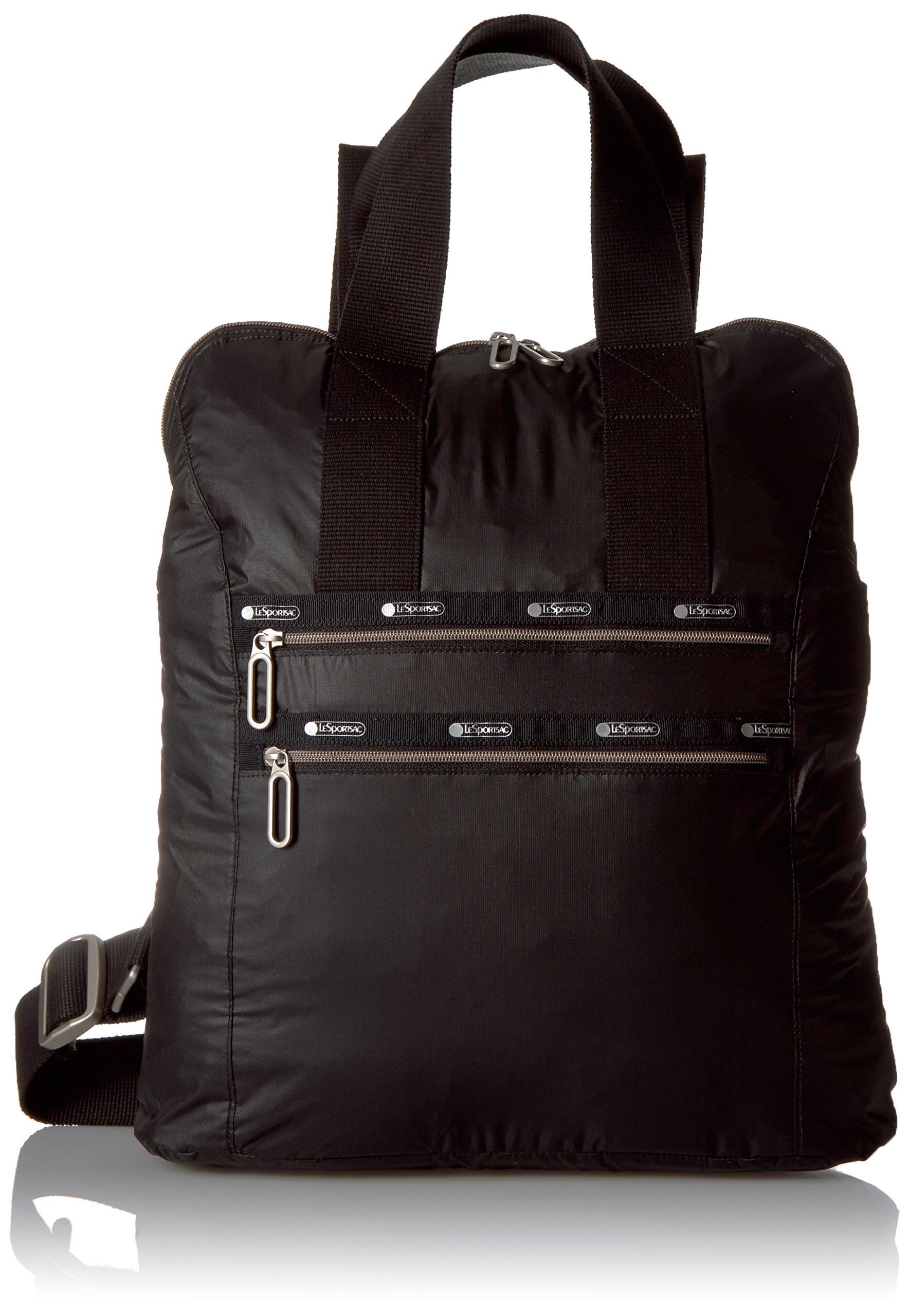 LeSportsac Commuter Back pack, True Black/Brown Calf, One Size