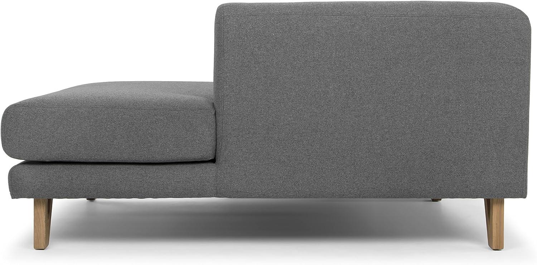 Scandinavian Design Bella Donna canap/é 3places angle droit tissu gris anthracite 322 x 170 x 72 cm