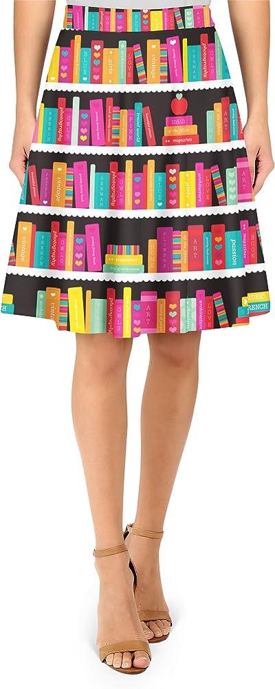 Queen of Cases Biblioteca Libro Caso a-Line Falda - Rojo -: Amazon ...