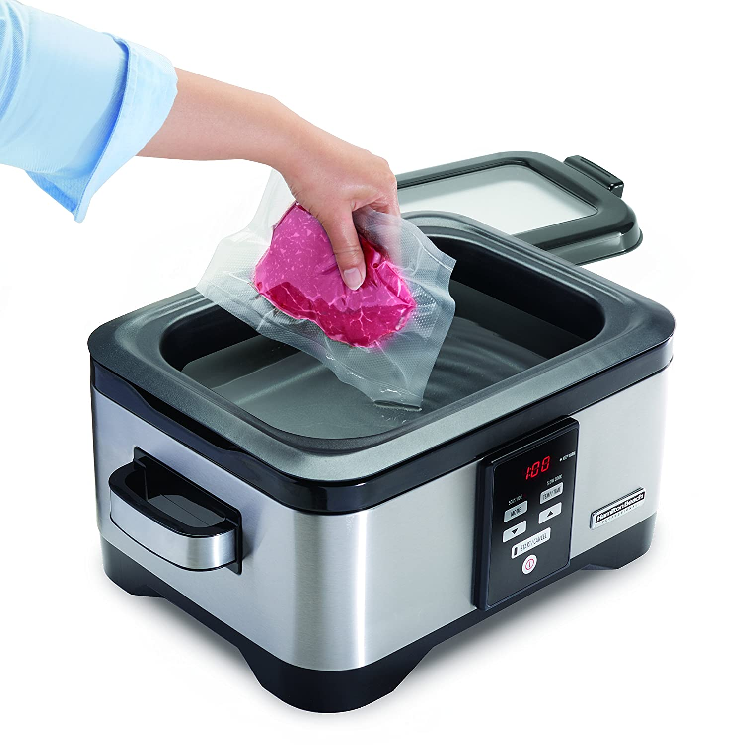 Hamilton Beach Professional Sous Vide Water Oven /& Slow Cooker Stainless Steel 6 Quart Programmable 33970