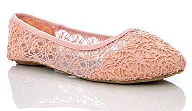 Women's Breathable Crochet Lace Ballet Flat