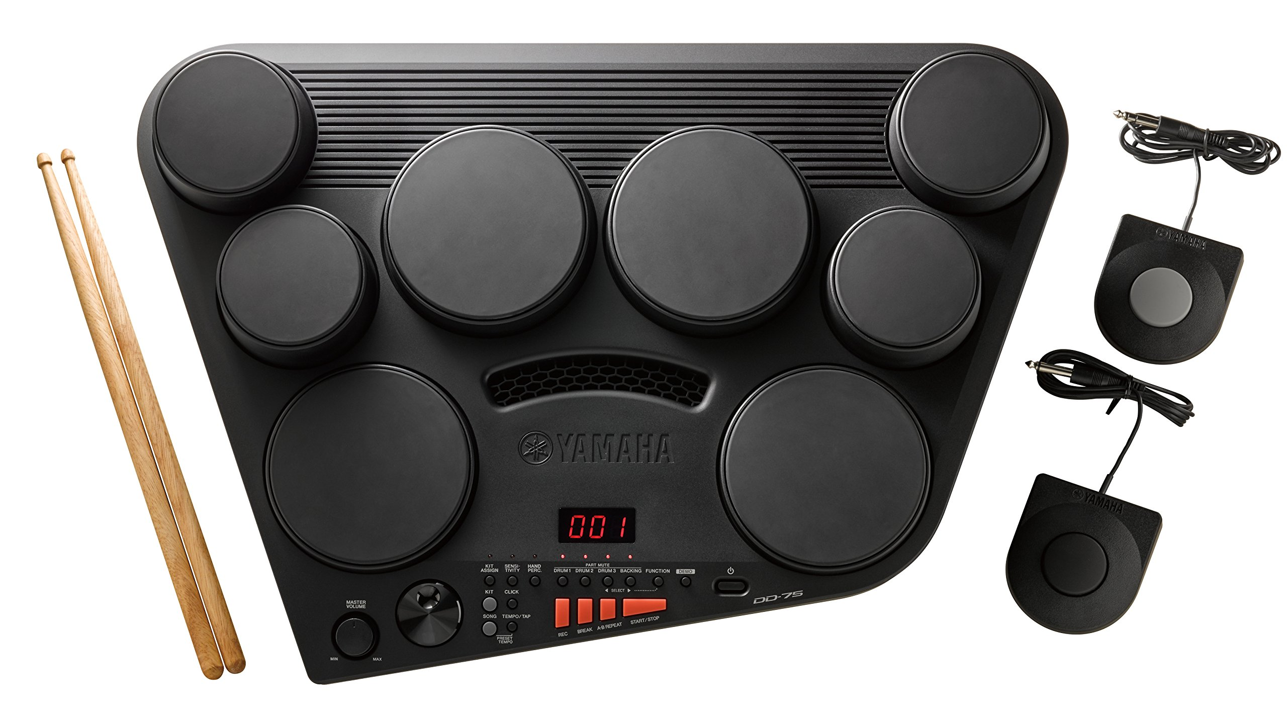 Yamaha DD75 Portable Digital Drums with 2 Pedals and Drumsticks - Power Adapter sold separately by YAMAHA