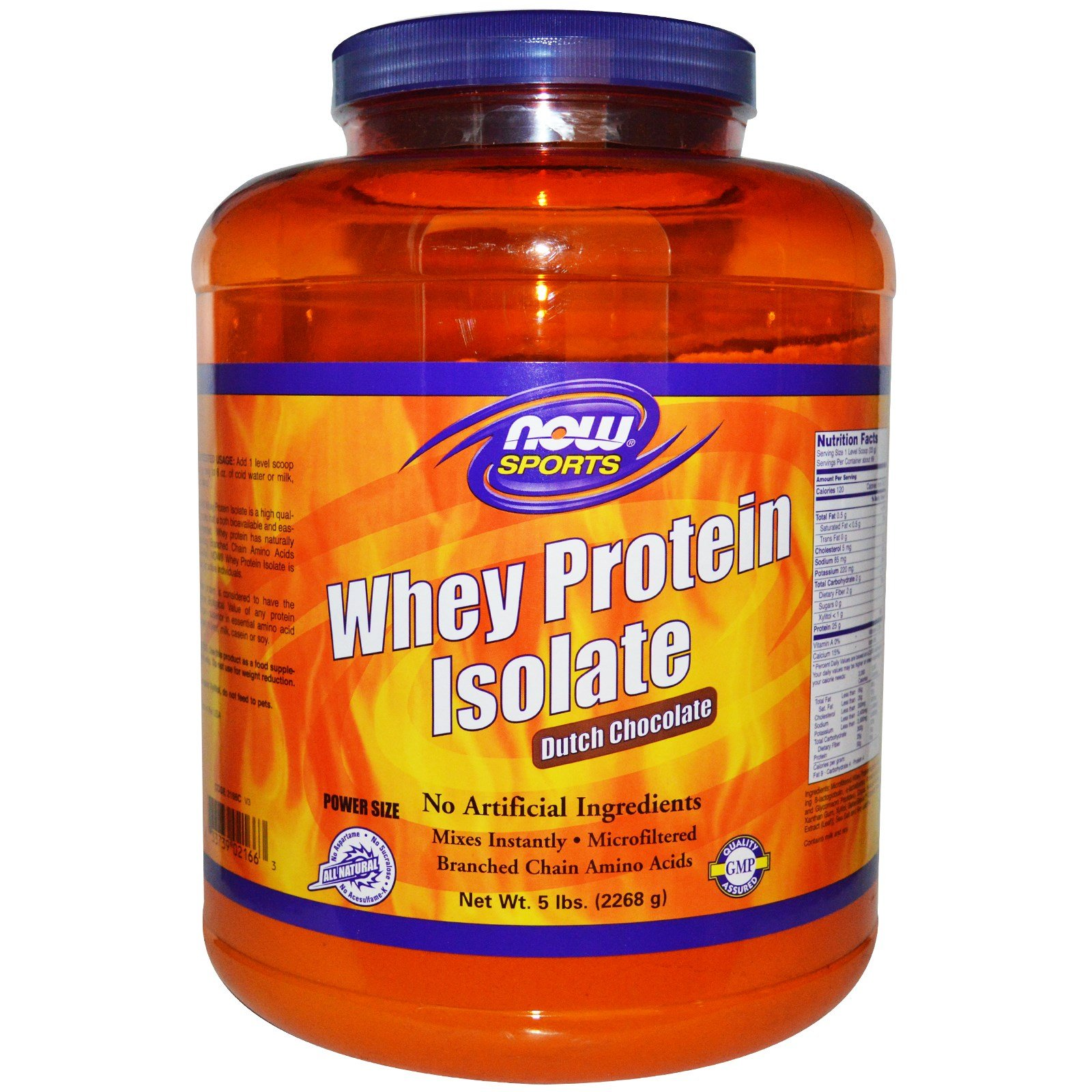 Now Foods, Sports, Whey Protein Isolate, Dutch Chocolate, 5 lbs (2268 g) - 2PC