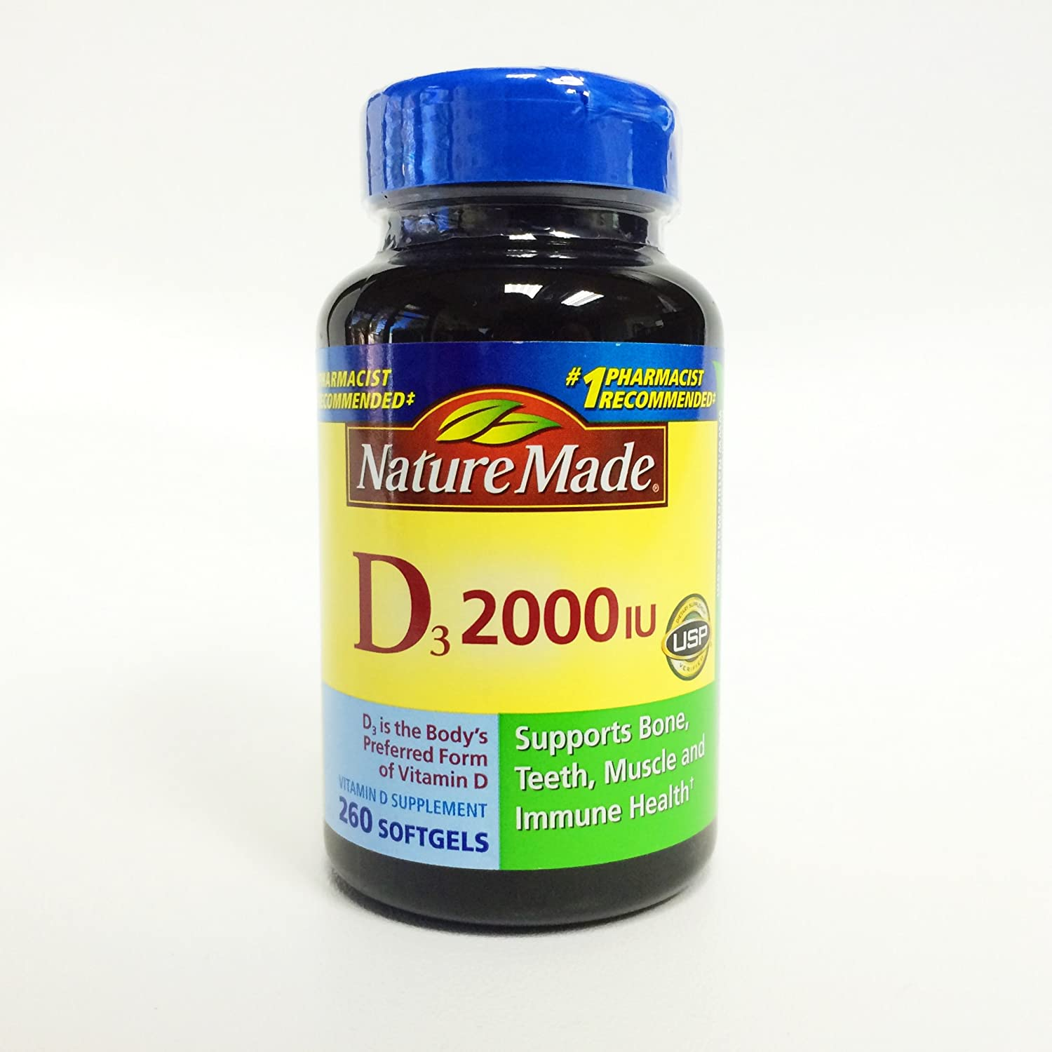 Nature Made D3 2000 IU, 260 Softgels