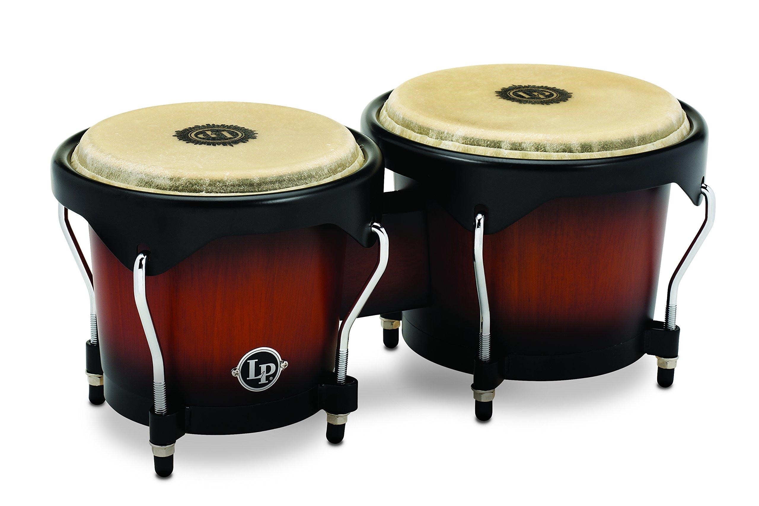 Latin Percussion LP601NY-VSB LP City Wood Bongos - Vintage Sunburst by Latin Percussion