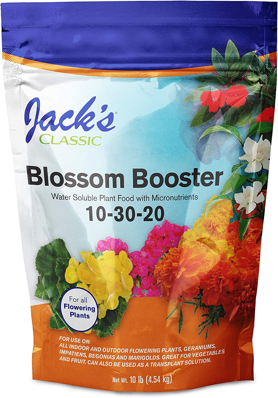 J R Peters Inc Jacks 51010 Classic No.10 Blossom Booster 10-30-20 Fertilizer - 10 lbs