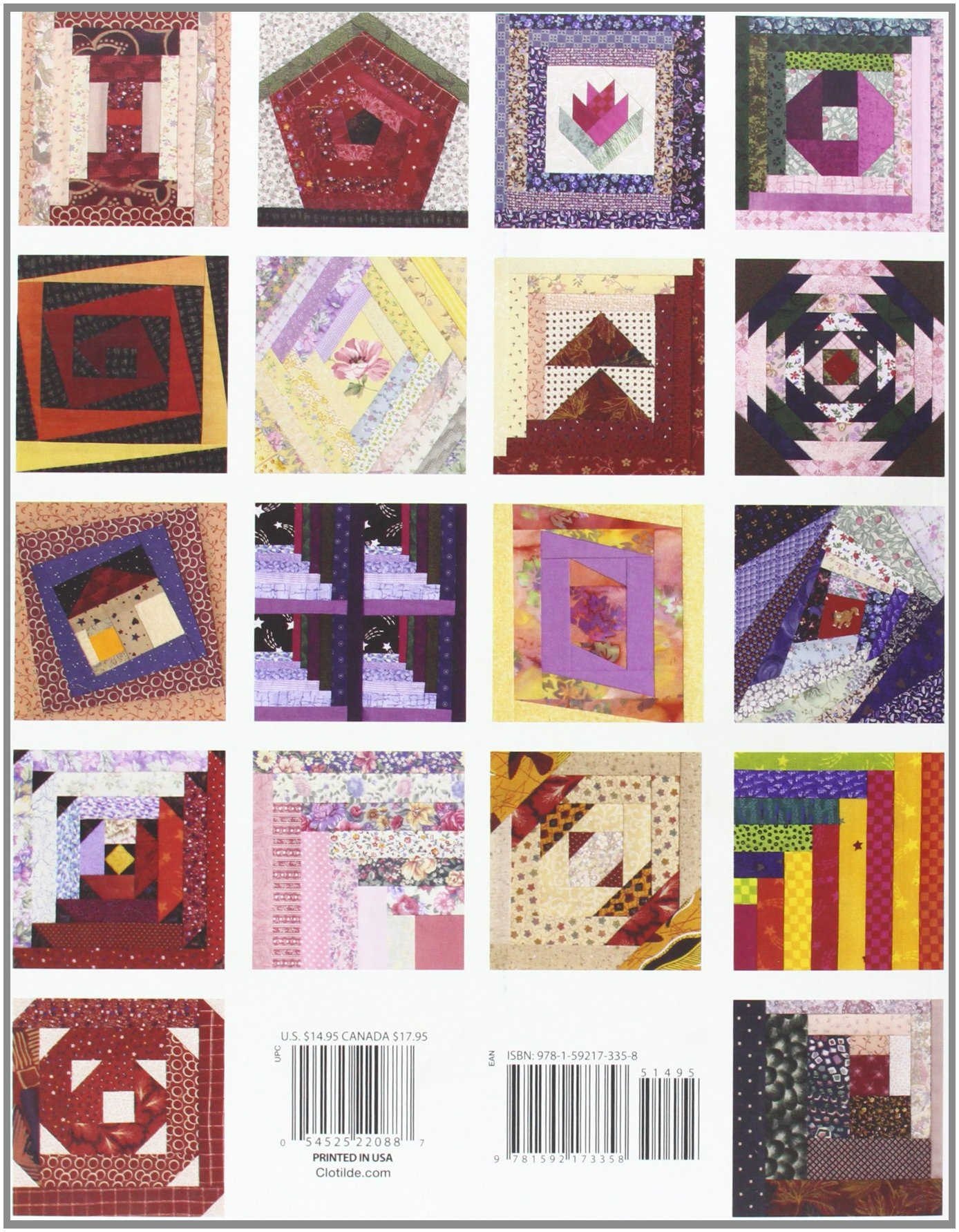 101 Log Cabin Blocks: With Full-Size Patterns for Paper or Foundation  Piecing: DRG Publishing: 9781592173358: Amazon.com: Books