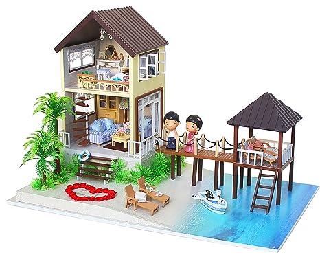 Costruire Una Casa Delle Bambole Di Legno : Kit per casa delle bambole fai da te in miniatura in legno fatta a
