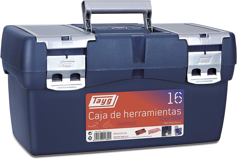 Tayg 16 Caja Herramienta Plástico, Azul/Rojo, 500 x 258 x 255 mm ...