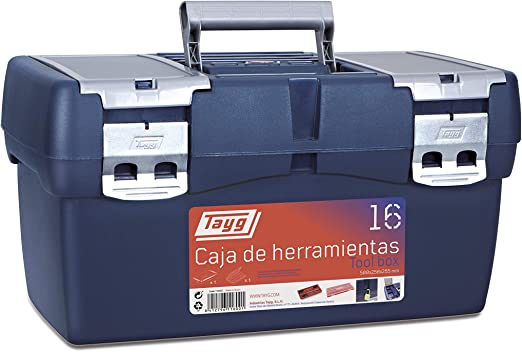 Tayg 16 Caja Herramienta Plástico, Azul/Rojo, 500 x 258 x 255 mm: Amazon.es: Bricolaje y herramientas