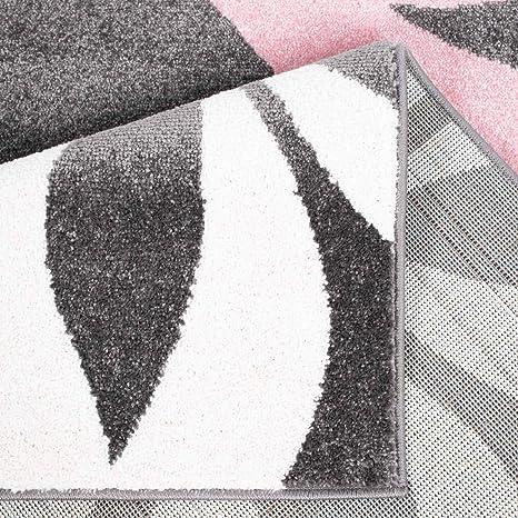 Teppich Modern Flachflor Moda Kreis-Muster Grün Creme Schwarz in 80x300