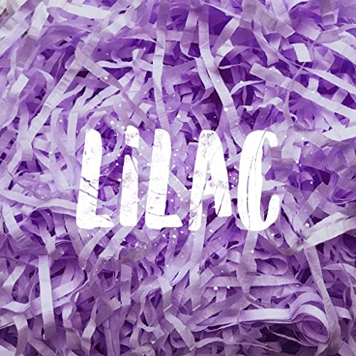 Lilac Shredded Tissue Paper Shred Hamper Gift Box Basket Filler Fill Wedding Baby Shower Easter Decorations