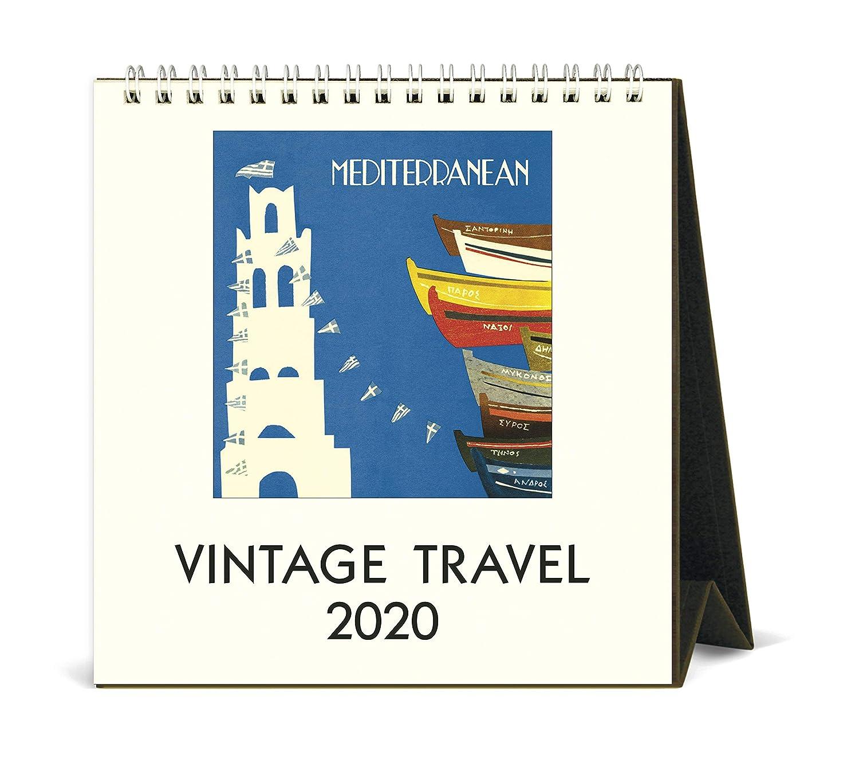 2020 Vintage Travel Desk Calendar