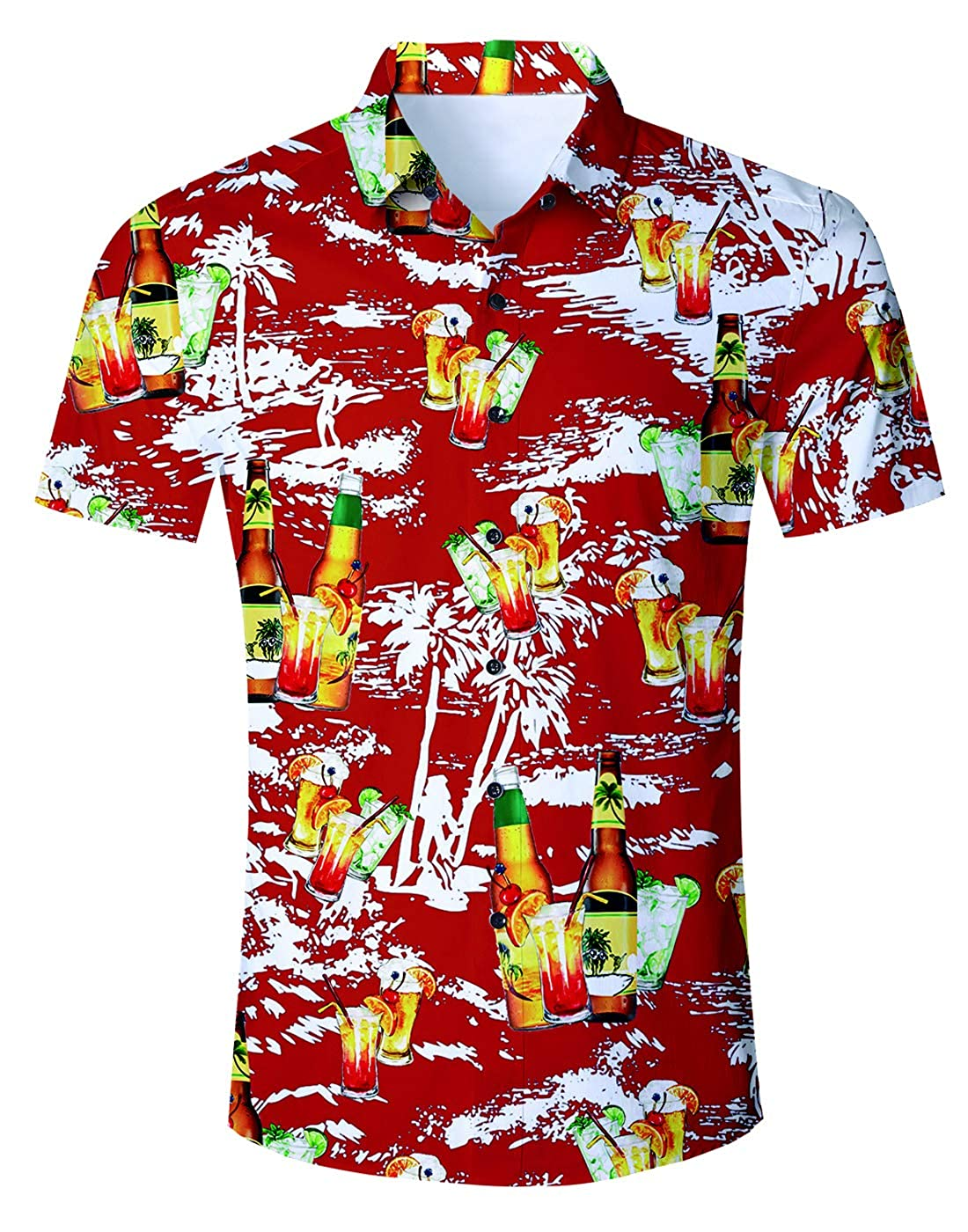6f175611aae PATTERN 3D print technology gives it cleanly print and makes hawaiian luau  shirt never fade. ALL MATCH These Aloha shirts are suitable for all  age