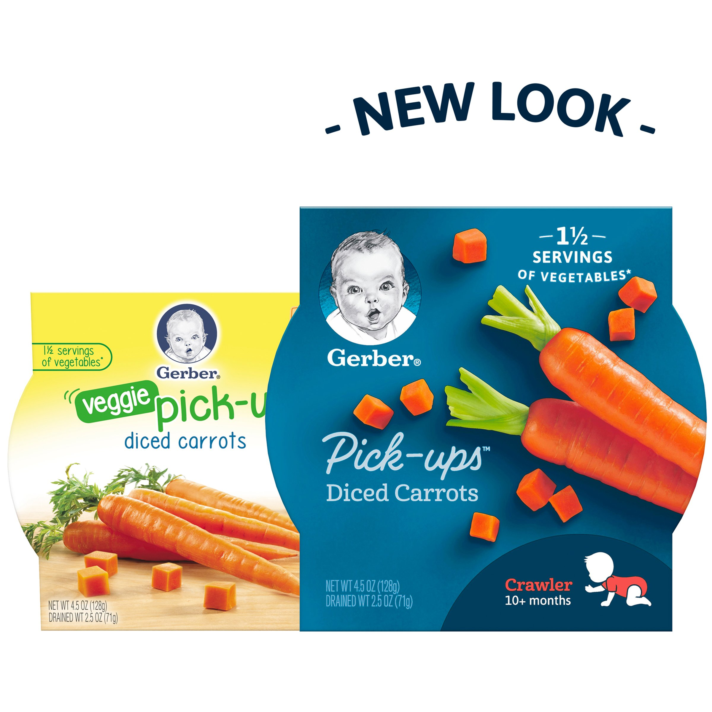 Gerber Graduates Veggie Pick Ups - Diced Carrots, 4.5-Ounce (Pack of 8) by Gerber