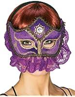 Adult Purple Princess Sultana Mask - Womens Std.