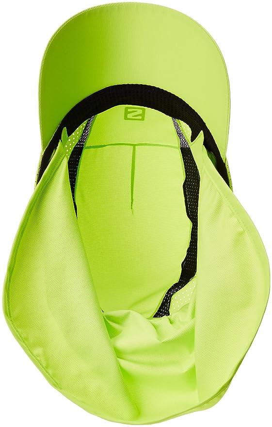 Salomon Gorra unisex con protector de nuca extraíble, XA+ CAP, S/M, Verde lima, L40048400: Amazon.es: Deportes y aire libre