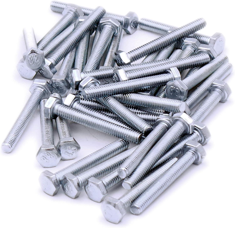 Pack de 40 Tornillos hexagonales M4 4 mm x 30 mm acero rosca completa