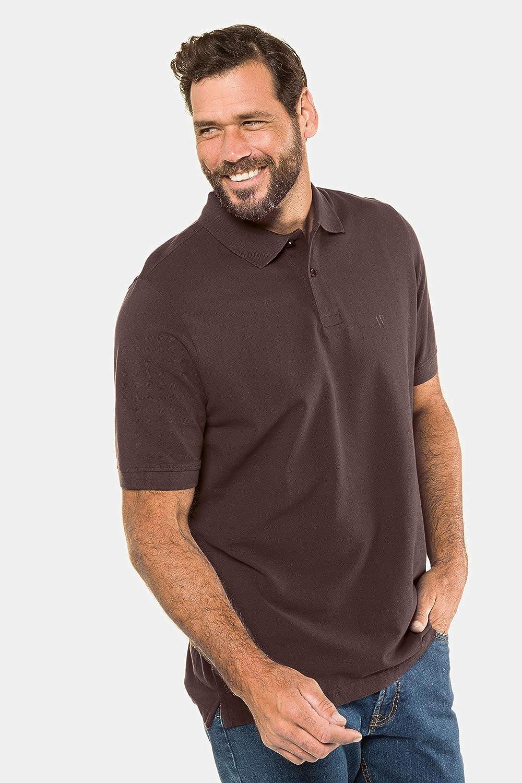 JP 1880 Men's Big & Tall Classic Cotton Pique Polo Shirt 702560 Brown (Brown 70256030)