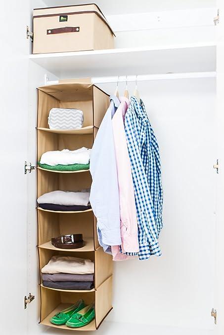 Zuitcase 6 Shelf Hanging Closet Organizer, Perfect Kids Room Organization  For Shoes, Toys,