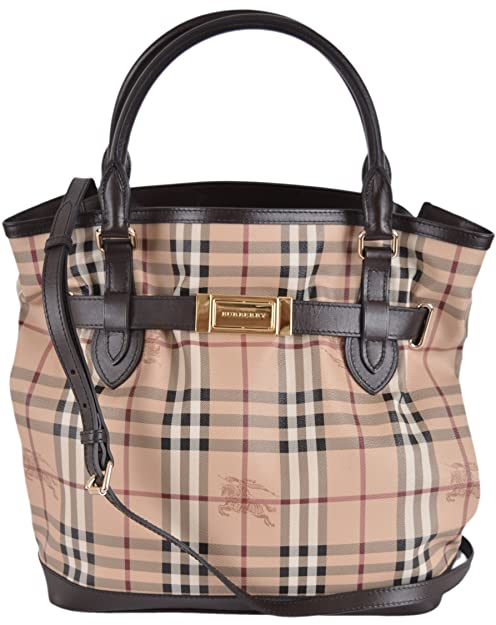 2d7bf81fef06 Burberry Women s Brown Haymarket Nova Check Crossbody Purse  Amazon.ca   Shoes   Handbags