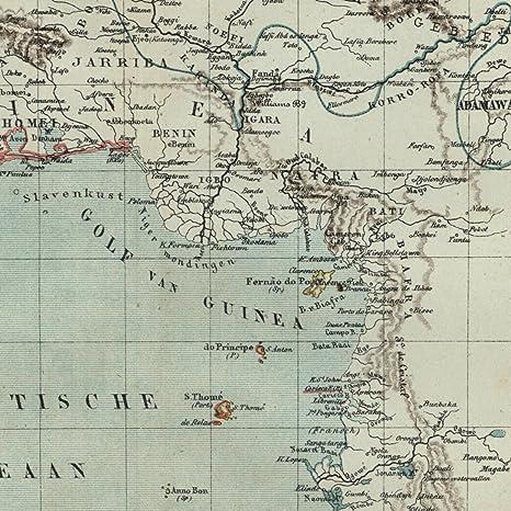 Amazon.com: West Africa Dahomey Guinea Sudan Benin Igbo 1882 ...