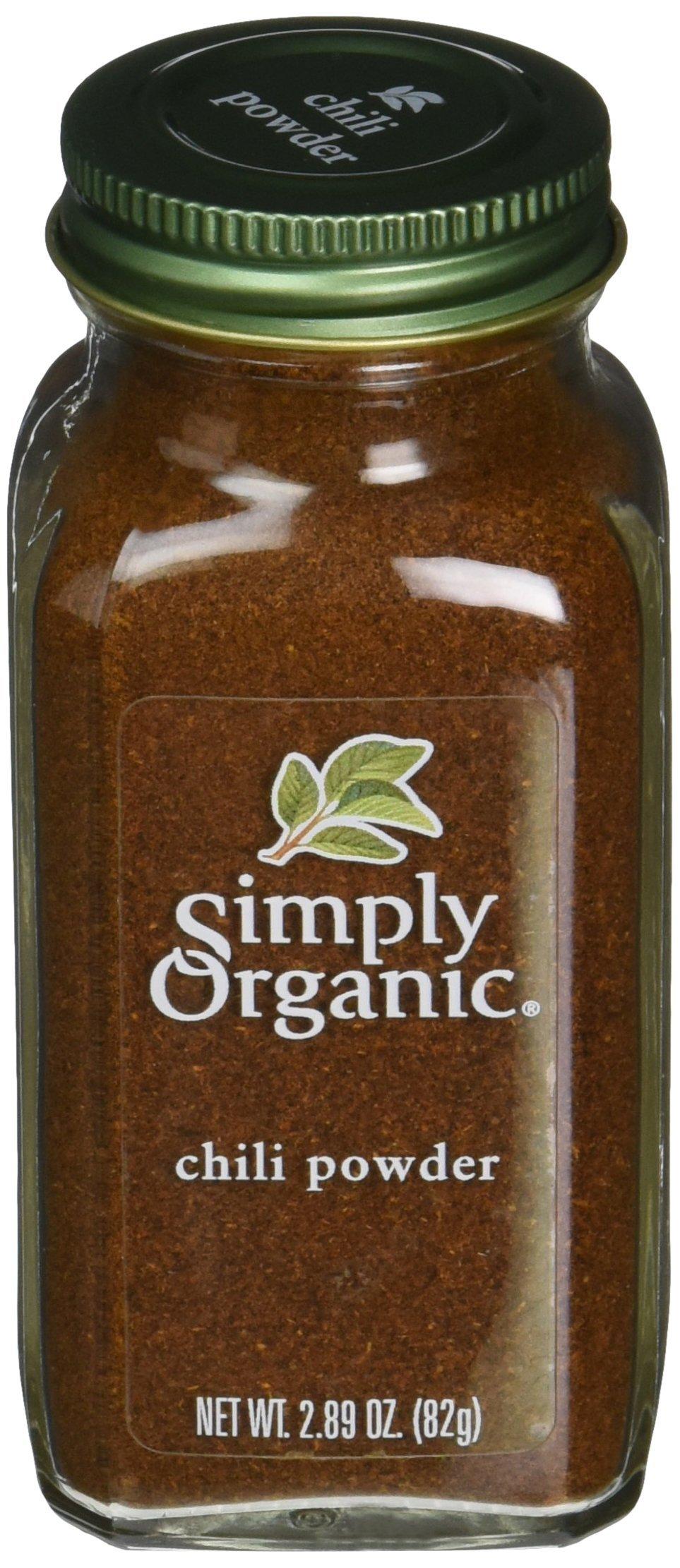 Simply Organic Chili Powder, 2.89 Ounce - 6 per case