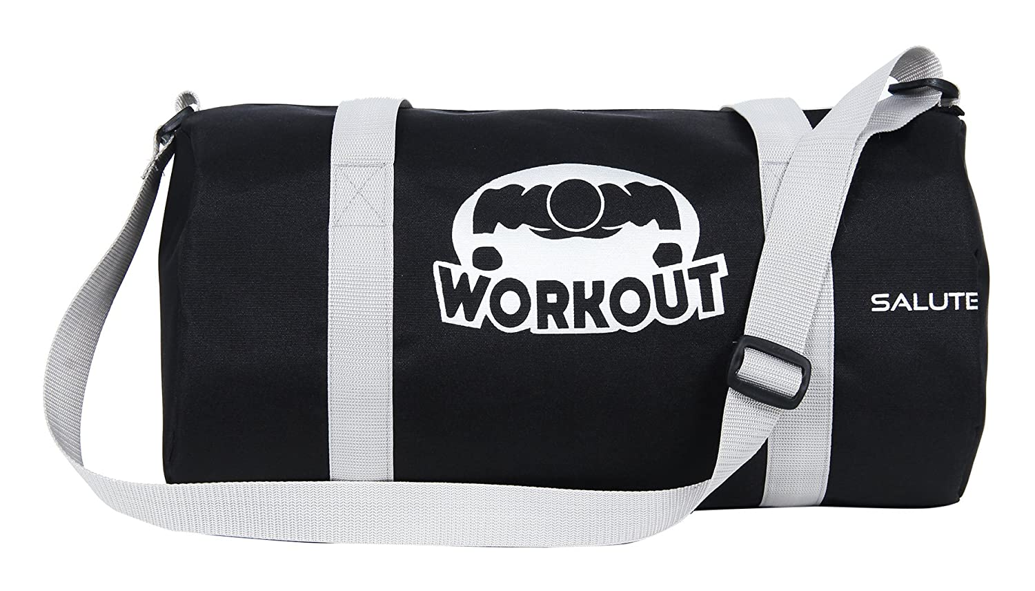 37fcacec0c61 SALUTE HUNK WORKOUT 25L Black Duffle Gym Bag  Amazon.in  Bags ...