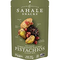 Sahale Snacks Pomegranate Flavored Pistachios Glazed Mix, 4 oz. – Nut Snacks in a Resealable Pouch, No Artificial…