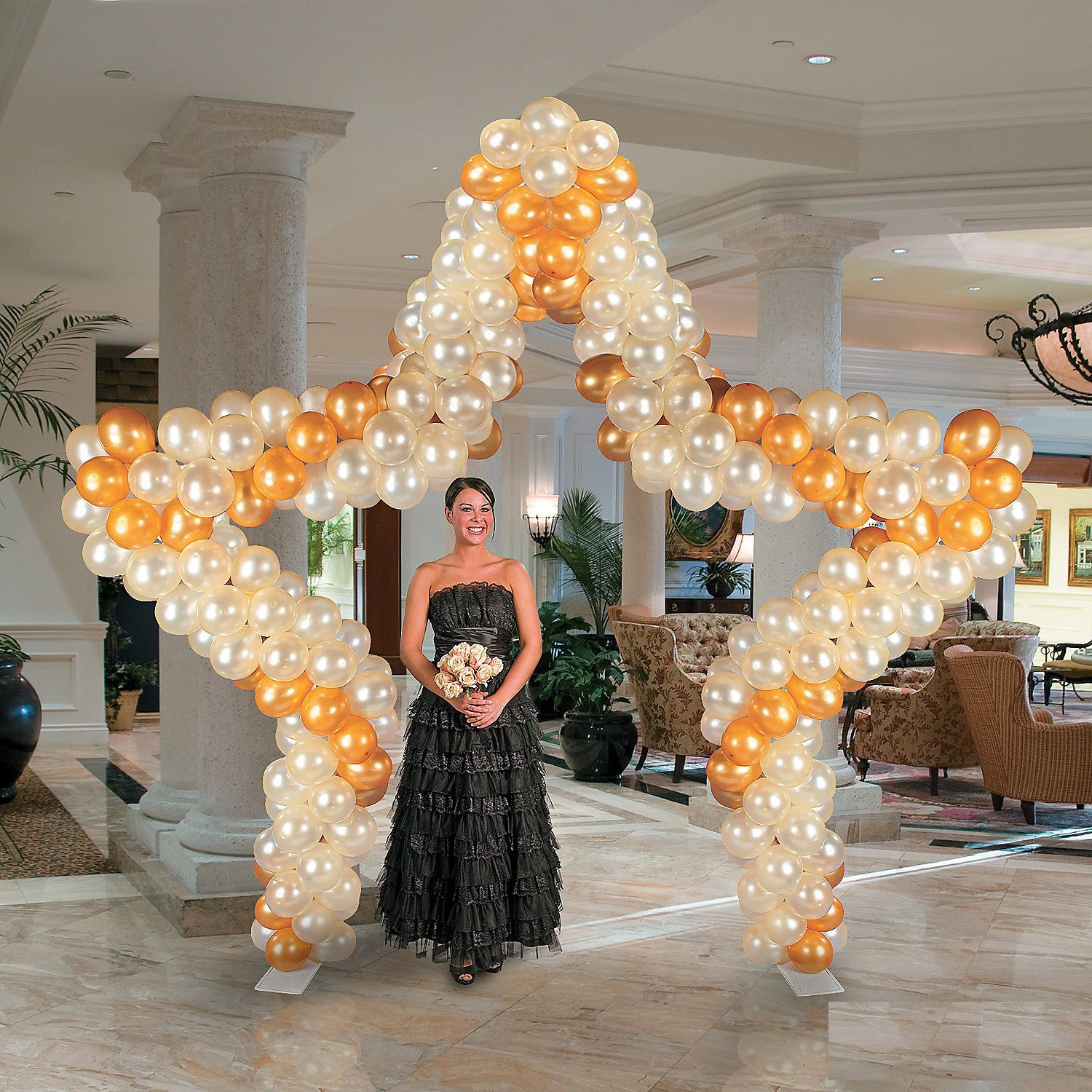 Star Balloon Arch Frame (11 Ft.)- Balloons & Balloon Accessories by Fun Express